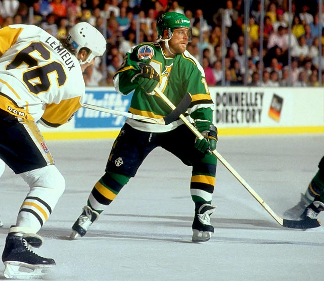 """What is happening to the North Stars is approaching the mystical,"" noted the  Minneapolis Star Tribune . Coach Bob Gainey's squad went 27-39-14, amassing only 68 points, but they bulled their way through the Campbell Conference, upsetting two 100-point teams. First was goon-it-up Chicago, with the Stars scoring a record-tying 15 power play goals. Then came Brett Hull's Blues, making Minnesota the first team since expansion to down a No. 1 and a No. 2 in one playoff season. A five-game conference final win over the defending Cup champ Oilers made Minny the first Norris Division team in 10 years to reach the final: a date with Mario Lemieux's Penguins that they managed to survive for six games."