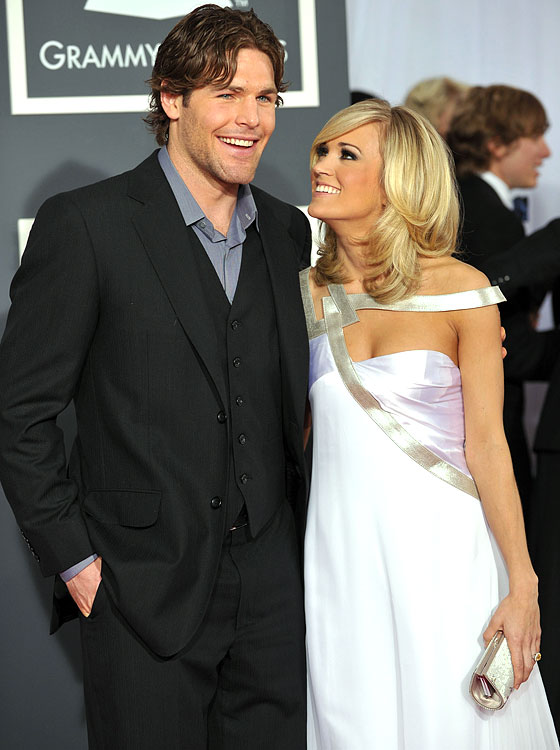 It's always nice to  know your significant other will stick with you through thick and  thin…literally. Carrie Underwood said her hockey star fiancée Mike Fisher would  love her even if she weighed 800 pounds. While we doubt the vegetarian could  ever balloon to that weight, it's good to know she doesn't have to worry about  gaining a few post-wedding pounds.