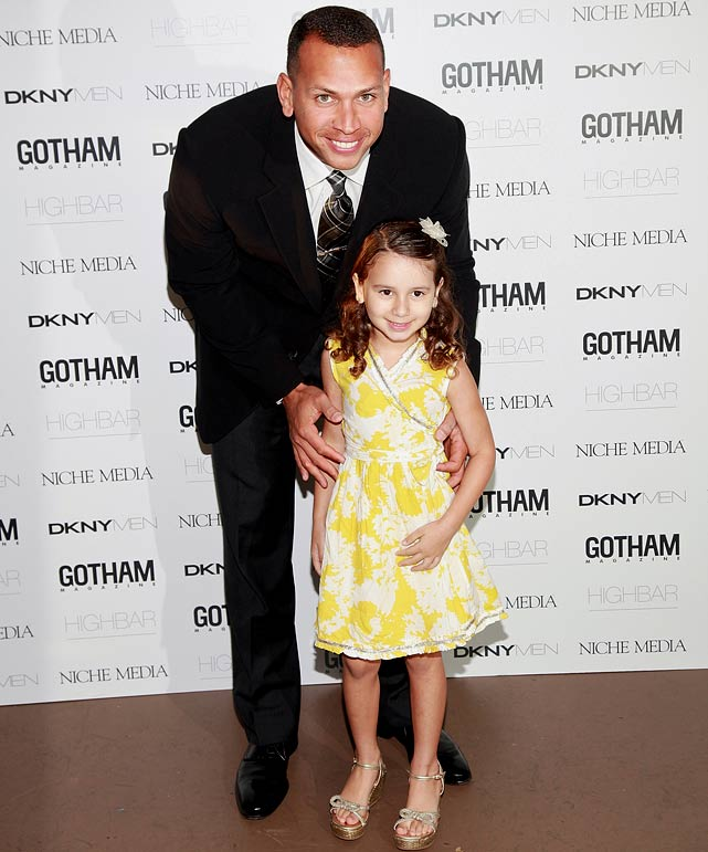 "Another week, another lady for Alex Rodriguez.  But this time, she's related to him. Rodriguez brought his 5-year-old daughter, Natasha, to the celebration of his Gotham magazine cover.  The two made quite a red-carpet couple, with both showing off their impeccable fashion sense. ""She's very excited about her new dress and high heels, of course, which is really exciting for her, but it makes me very nervous,"" A-Rod said."