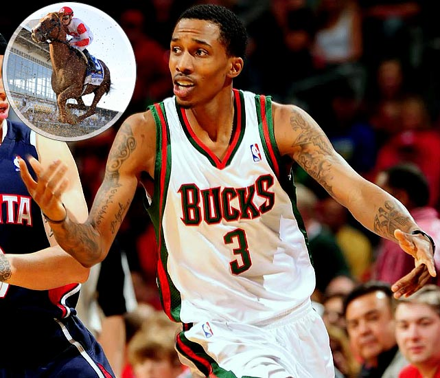 Brandon Jennings of the Milwaukee Bucks attended his first ever horse race on Saturday.  The point guard took in the sights at the Preakness and said he was going to put some money on Pleasant Prince because the two share the number 3.  Unfortunately, Pleasant Prince finished 11th in a 12-horse field.