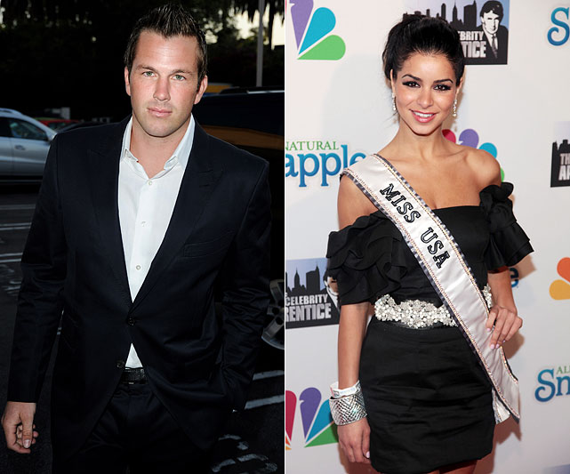 "Athlete (ok, that's a stretch) Doug Reinhardt is apparently dating new Miss USA, Rima Fakih.  The relationship doesn't sound too serious and that's a good thing. It's difficult to take a girl seriously who said the following on national television:  ""I believe that birth control is just like every other medication, even though it's a controlled substance."""