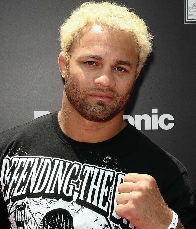 Make a mental note: Policemen don't have a great sense of humor.  UFC fighter Josh Koscheck left a Los Angeles club, casually walked up to a motorcycle cop, took his helmet off the bike and tried it on for size.  But the impromptu dress-up session didn't sit too well with a second policeman.  Koscheck promptly returned the helmet and went on to trash talk his next opponent, Georges St. Pierre.