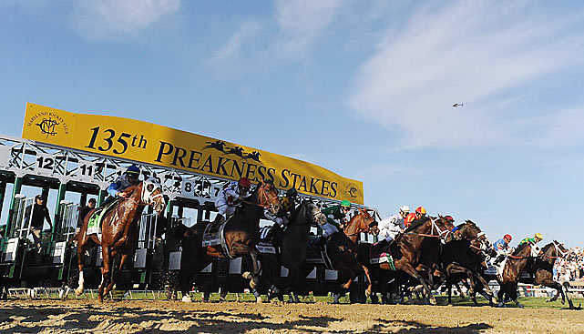 And they're off ... for the running of the 135th Preakness Stakes.
