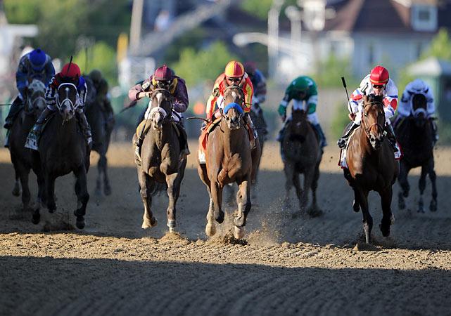 Jackson Bend (purple helmet) was third and Yawanna Twist (far left, red helmet) was fourth.