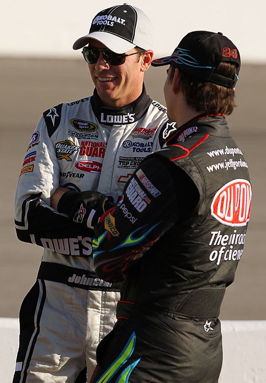 """Jeff's had such a good year going.  Two victories have slipped through his fingers, so I think it's ... I was the straw that broke the camel's back. And when the microphone was there, it was easy just to go [off].""     Jimmie Johnson on his feud with Jeff Gordon"