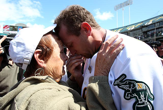 """It hasn't been a joyous day for me in a while. With my Grandma in the stands it makes it a lot better.""    Dallas Braden after pitching a perfect game on Mother's Day.  His mother, Jodie Atwood, died of cancer when he was in high school."