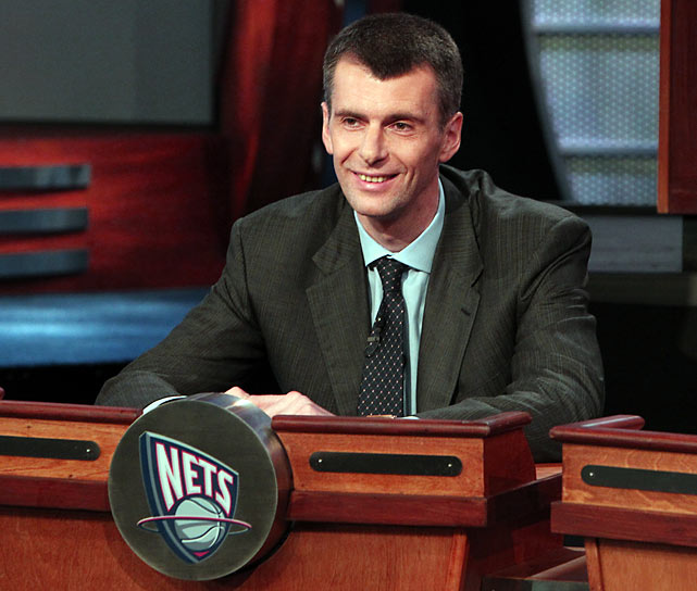 """Sometimes luck makes all the difference, but it never comes down to one player. I'm sure we're going to get a great player. For our team, the only way is up.""    New Jersey Nets Owner Mikhail Prokhorov after receiving the third pick in the NBA Draft Lottery."