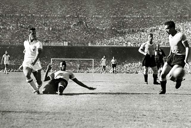There's some dispute as to Ademir's real total during the 1950 World Cup, but he's officially credited with seven goals. Brazil lost to Uruguay in the final.
