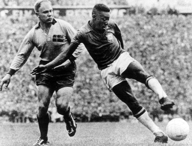 The first internationally televised World Cup gave us Brazil's Samba soccer and 17-year-old sensation Pele, who scored six goals in the tournament. It also provided the first winner outside its home continent, Brazil, which defeated host Sweden 5-2 in the final.