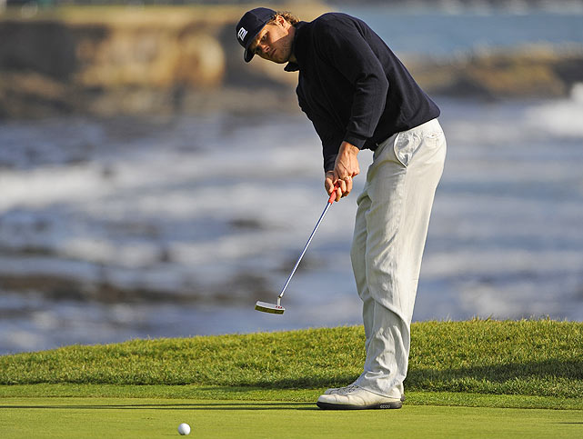 Brady sought refuge on the golf course, where in mid-February he played in the AT&T Pebble Beach National Pro-Am in California.