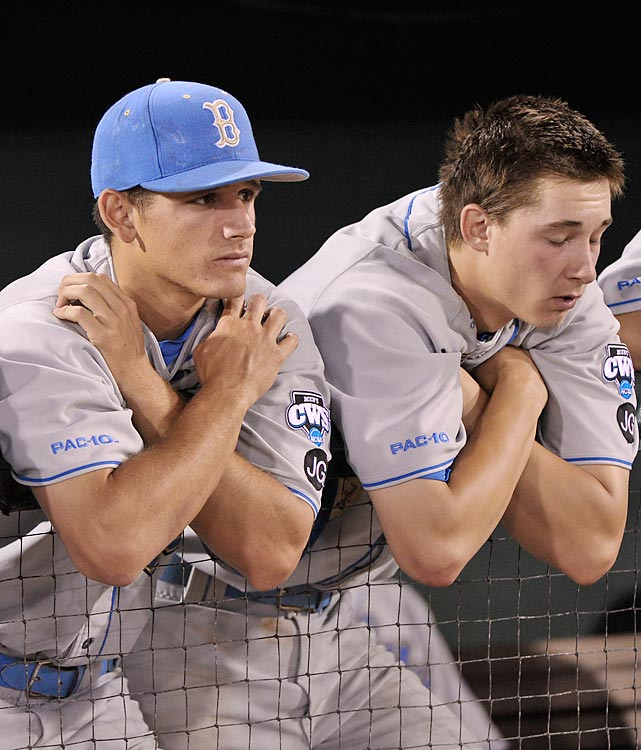 No. 6 national seed UCLA only scored two runs in two games in the College World Series championship series.