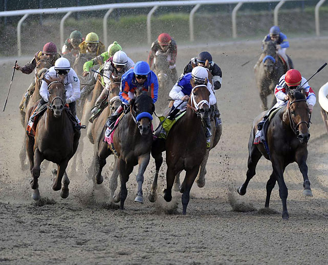 Fly Down, with John Velazquez on top, placed second. Preakness runner-up First Dude was third after setting the pace.