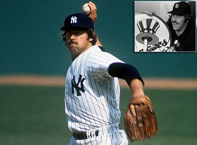 """The ace of Oakland's three-time World Series champions was the big fish and he ended up signing for a then-record $3.75 million for five years with -- who else? -- George Steinbrenner's Yankees, who beat out 19 other suitors. """"Just walking into Yankee Stadium chills run through you,"""" said Hunter, who'd won the 1974 AL Cy Young Award with a 25-12 record and 2.49 ERA for the A's. """"I believe there was a higher offer, but no matter how much money (is) offered, if you want to be a Yankee, you don't think about it."""" Hunter went on to help the Yankees reach and win the Series in 1977 and '78."""