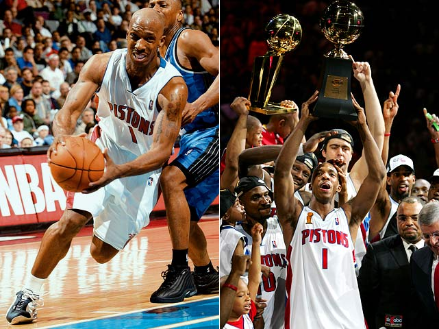 Billups played on four teams in his first five seasons before Joe Dumars swooped in and signed the point guard to a six-year, $35 million deal. The move made Dumars look like a genius as Billups averaged 17 points and seven assists during his tenure with the Pistons, including two trips to the Finals and one championship (after which he was named Finals MVP).