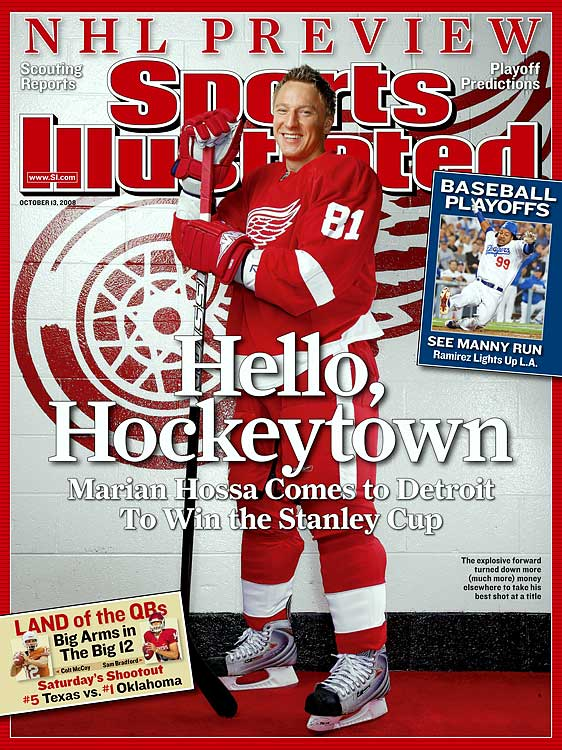 Turning down more lucrative offers from Edmonton, Montreal, Vancouver and the Penguins, Hossa left Pittsburgh to join the Stanley Cup-winning Red Wings on a one-year, $7.45 million contract. He reportedly turned down a five-year deal from the Penguins. It didn't turn out so well for Hossa that year -- his former team beat his new team to win the Stanley Cup. Finally, though, Hossa won a Stanley Cup this season with the Blackhawks.