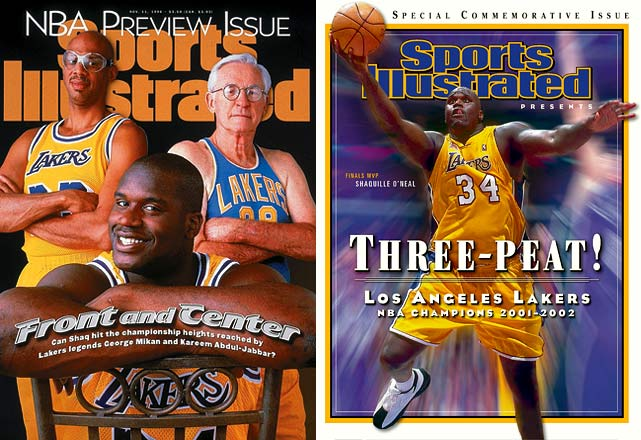 Shaq's defection to Los Angeles turned the league on its ear and restored the Lakers to glory. Credit goes to Los Angeles GM Jerry West, who cleared up cap space by shipping Vlade Divac to Charlotte (for an 18-year-old rookie named Kobe Bryant) as well as sending Anthony Peeler and George Lynch to Vancouver so he could clear cap space. Excited by the acting and music opportunities in Los Angeles, Shaq put his signature on a seven-year, $121 million deal. Three championships (and four rap albums) later, West looks like a genius.