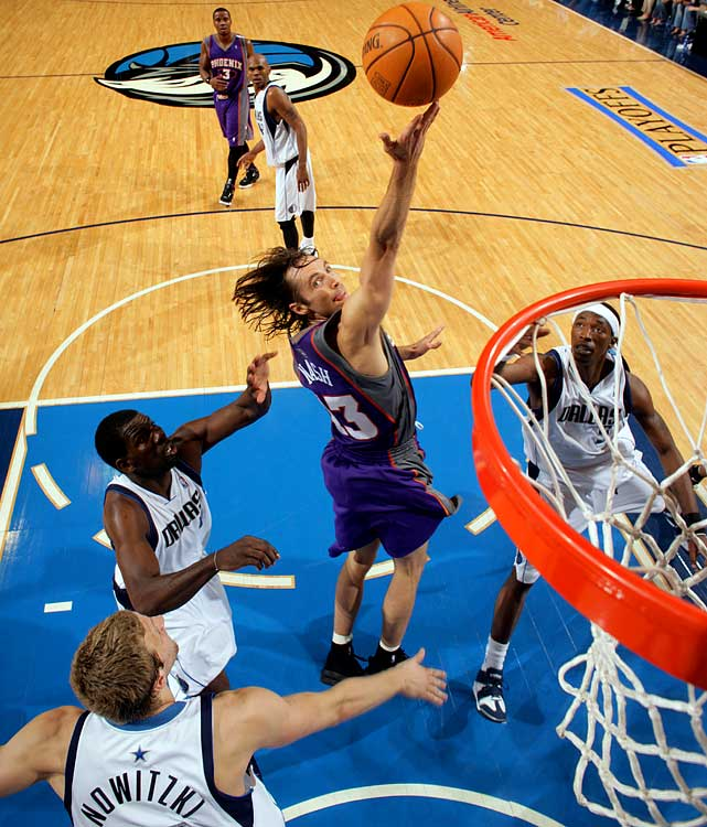 Dallas felt Nash was too old and too injury-prone to sign to a huge contract, so it declined to match Phoenix's six-year, $65 million offer for the Canadian point guard. That decision backfired: Nash has won two MVP awards since joining the Suns and cemented his legacy as one of the NBA's all-time top point guards.