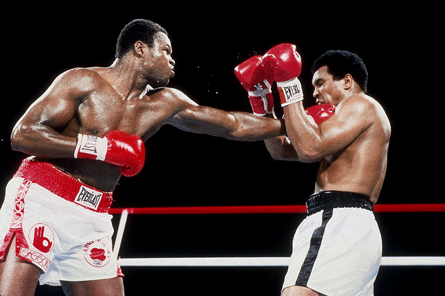 "The former champ was far from competitive against the in-his-prime Holmes, who was declared the winner by TKO in the 11th round after trainer Angelo Dundee refused to let Ali continue to get pummeled.  Holmes had this to say about Ali, his former mentor: ""After the fight was all over, I went to his room and he was lying in the bed, getting massaged. I said, `I love you, man.' He says, `If you love me, why you beat me up like that?'"""