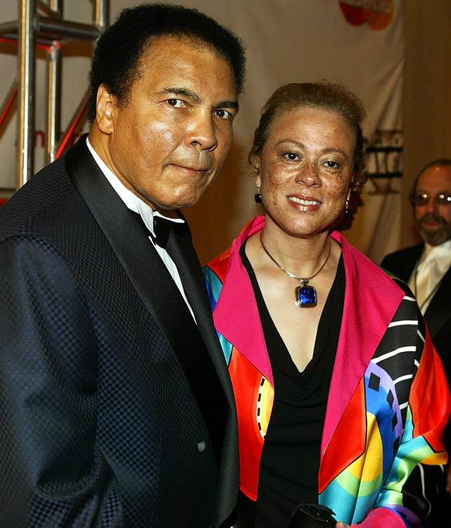 Ali (pictured here in 2004 with Lonnie at a charity event) still makes plenty of appearances to raise money for the Muhammad Ali Parkinson Research Center at the Barrow Neurological Institute in Phoenix.