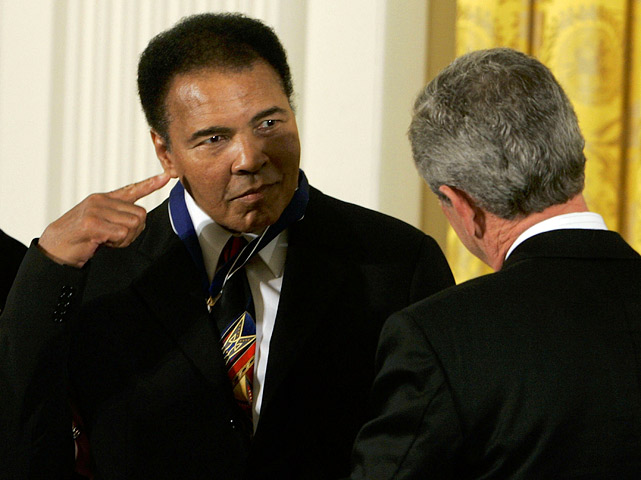 "In November 2005, Ali received the Presidential Medal of Freedom from President Bush. The award is the highest civilian honor in the U.S., which recognizes individuals who have made ""an especially meritorious contribution to the security or national interests of the United States, or to world peace, or to cultural or other significant public or private endeavors."""