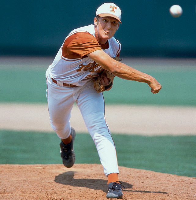 Huston Street's four saves still stand as an NCAA record and led his Texas squad to the 2002 national title. As just a freshman, Street recorded the save in each of the Longhorns' four College World Series victories. He was named the Most Outstanding Player of the 2002 CWS.
