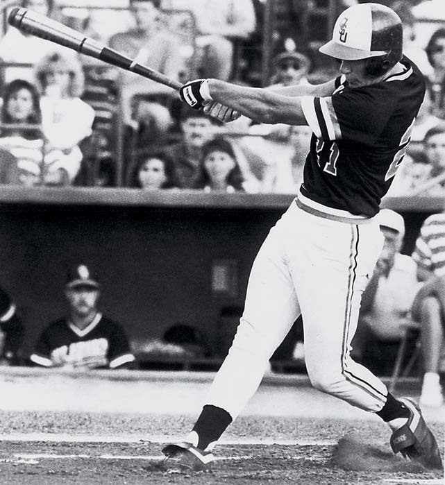 Oklahoma State's Robin Ventura carried a 58-game hit streak into the Cowboys' 1987 College World Series contest against Stanford, a record that still stands in the NCAA record books. Needing a hit to prolong his streak, Ventura stepped up in the ninth and grounded a slow roller to Stanford second baseman Frank Carey, who bobbled the ball before making a wild throw past first base. After reviewing the play, official scorer Lou Spry ruled it a two-base error, ending Ventura's streak and drawing a chorus of boos from the crowd.