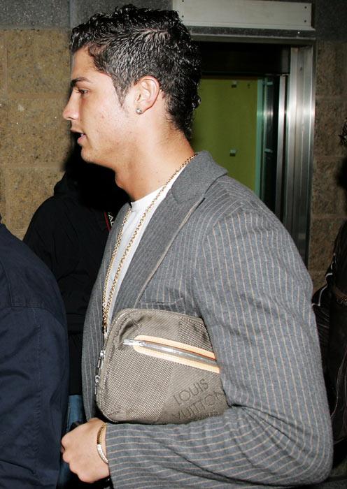 Ronaldo attends Christina Aguilera's Back to Basics tour at the Manchester Evening News Arena.