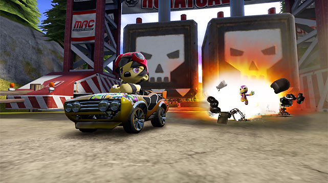 The third quality racer this month is  Mod Nation Racers , a classic kart game featuring a dizzying array of character and track customization. Both tools are surprisingly easy to use and can be seamlessly shared on the PlayStation network following the highly successful sharing model of Little Big Planet. The game's refined racing experience centers on tight control, a solid array of power-ups and bright, detailed graphics. As you advance through the career mode you'll be able to level-up attacks, which is a nice -- and addictive -- reward. Online races are limited to 12 karts, but that's plenty to keep the action level high, and the presence of hidden tokens adds great replay value.  Score: 9/10