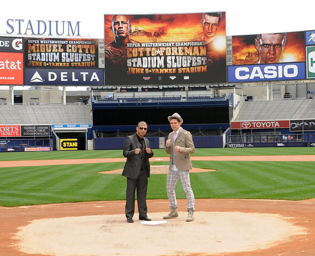 Boxing returns to Yankee Stadium following a 34-year absence Saturday when Yuri Foreman defends his WBA junior middleweight title against former welterweight champion Miguel Cotto. Here's a look at some of the most memorable bouts to take place at the iconic Bronx stadium through the years.