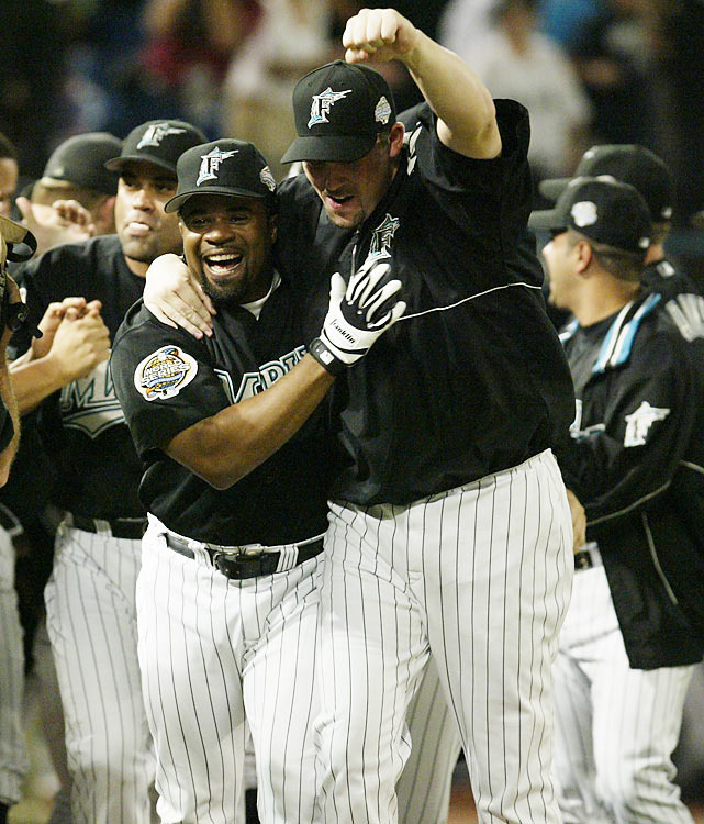 With the game tied at 3 in the bottom of the 12th inning, Marlins shortstop Alex Gonzalez won the game with a solo home run off Yankees reliever Jeff Weaver. The victory tied the series at 2 and set the stage for the Marlins to defeat the Yankees in six games.