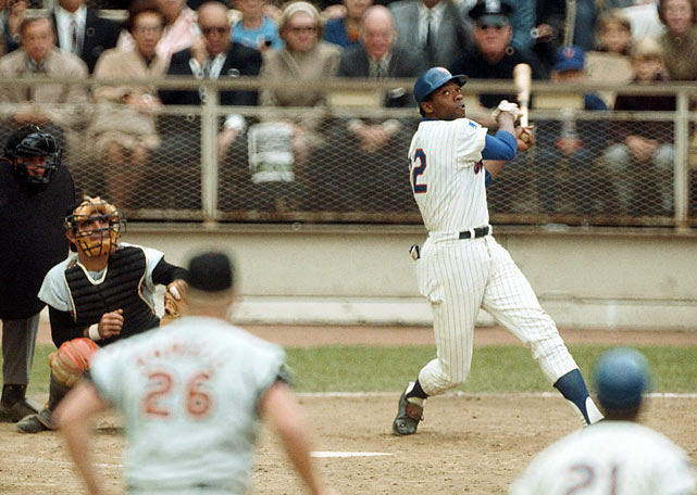 "The ""Miracle Mets"" came back from a 3-0 deficit in Game 5 of the 1969 World Series at Shea Stadium to finish off the Baltimore Orioles and complete one of the most stunning underdog stories in sports history. In just their eighth season of existence, the Mets won baseball's highest crown in their first winning season in franchise history. A one-two punch of future Hall of Famers Nolan Ryan and Tom Seaver helped New York beat an Orioles team loaded with such talent as Jim Palmer, Brooks Robinson and Frank Robinson."