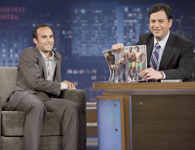 Donovan makes an appearance on  Jimmy Kimmel Live  to promote the World Cup.