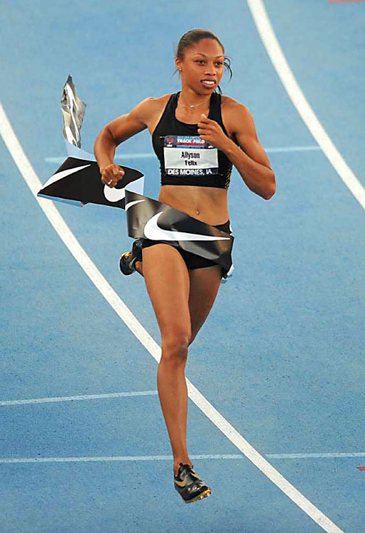 Allyson Felix wins the women's 100m in 11.27 at the USA Outdoor Track and Field Championships June 25 in Des Moines,