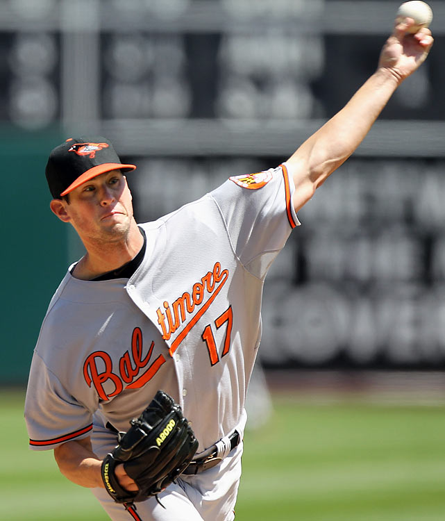 The Orioles are pinning their future on their answer to the Big Three that kept Oakland in contention during the 2000's (Zito, Moulder, Hudson) with their version of Jake Arrieta, Chris Tillman and Matusz. All three are now in the Majors and the 23-year-old, 2008 fourth overall pick Matusz is doing his best with the paltry run support given him in 15 starts. He reached June 23 with a 2-8 record and 4.95 ERA.