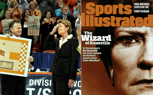 Summitt's 36-year run as Tennessee's head coach has been nothing short of remarkable. She owns a mind-boggling 1,034-195 career mark, leading the Lady Vols to eight national championships and 15 SEC titles.