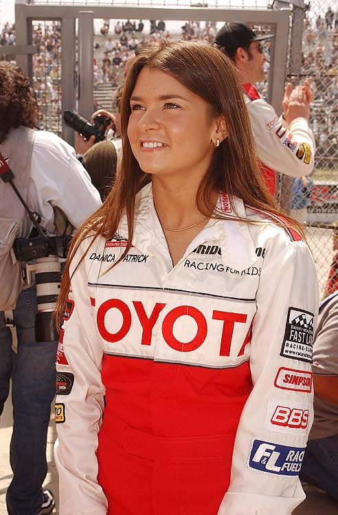 A fresh-faced 20-year-old Patrick got her break in 2002, signing with Rahal Letterman Racing to run in the Barber Dodge Pro Series. It wouldn't be until 2005 that Patrick hit the IndyCar ovals. Here she participates in the 26th Annual Toyota Pro/Celebrity Race in Long Beach. She would win the pro division.