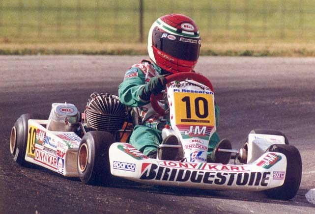 A pint-sized Danica Patrick got her start early in racing. Here she is at 12, kart racing in Dousman, Wis. Danica turned 32 on March 25, 2014.