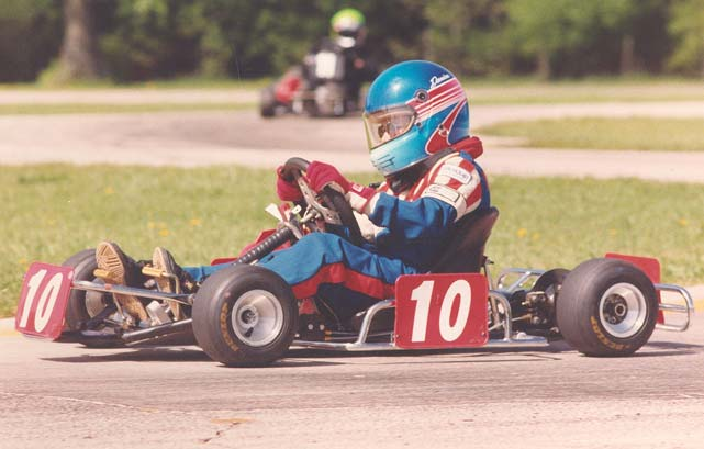 Patrick goes karting in Charlotte in 1997.