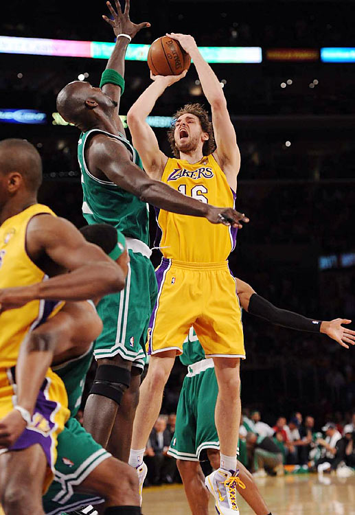 Pau Gasol took some heat for his lackluster showing in the 2008 Finals. But his 23-point, 14-rebound performance in Game 1 ought to quiet the critics.