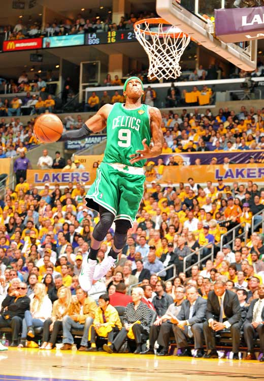 Rondo, who's been hindered by back spasms lately, finished with 13 points, eight assists and six boards.