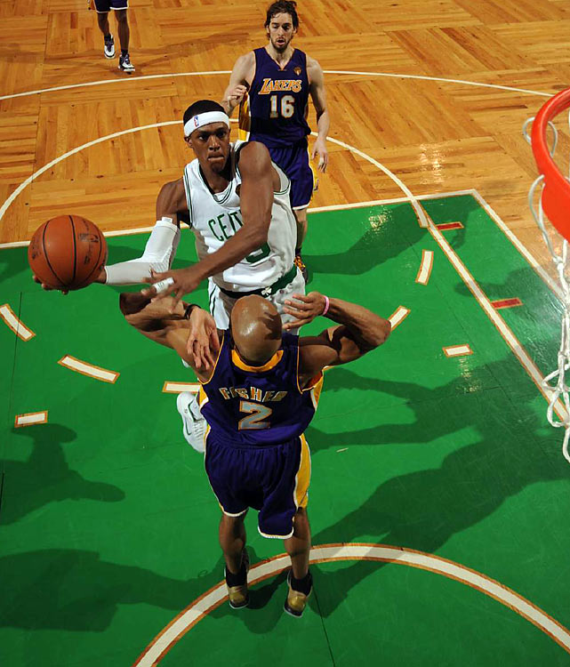 Rondo and the Big Three closed out the game after the C's reserves handed them a late-game lead.