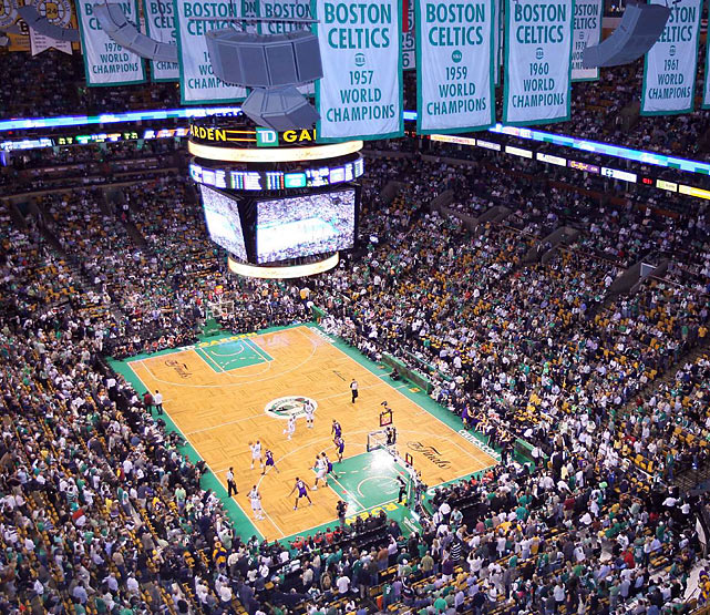 In the shadow of the Celtics championship banners, Boston evened the Finals at two games thanks to stellar play from their bench, which outscored the Lakers' reserves 36 to 18.