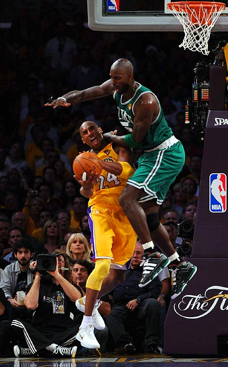 Finals MVP Kobe Bryant picked up his fifth championship ring, but it didn't come easy. He struggled to find his rhythm offensively, but managed to make up for it on the defensive end, where he grabbed 11 of his 15 total rebounds.