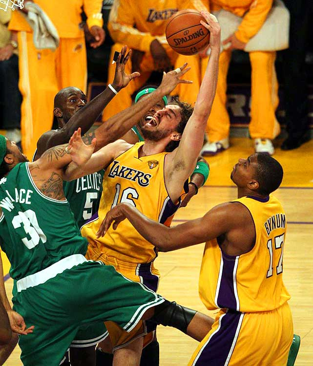 With his second title in three Finals appearances, Gasol earned a place among the best big men in recent years.