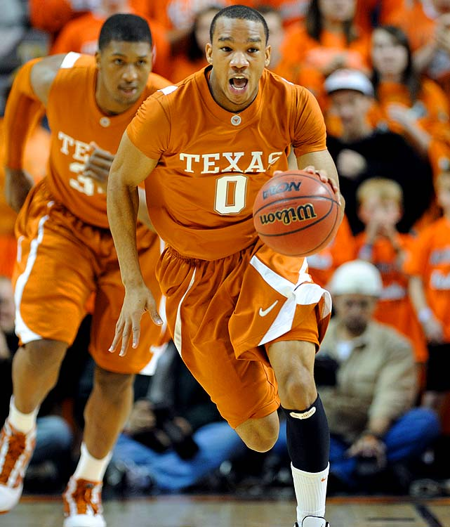 Texas, Freshman Point Guard/Shooting Guard 6-3, 180 pounds, 19 years old  Quick, long combo guard with solid perimeter shooting skills and a defense-oriented mentality.