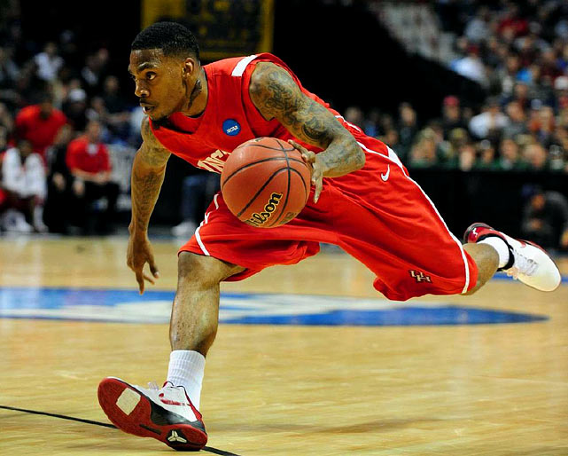 Houston, Senior Shooting Guard 6-4, 200 pounds, 22 years old  Strong, athletic shooting guard who led the NCAA in scoring (25.6 ppg).