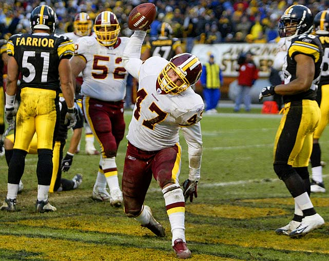 In his senior season at Utah State in 2003, Cooley led the NCAA in receptions by a tight end. The following year, the Redskins made him the 81st pick of the NFL draft In the first half of his rookie season, Cooley caught only 10 passes. He broke out in Week 12 at Pittsburgh, catching seven balls, one for a touchdown.