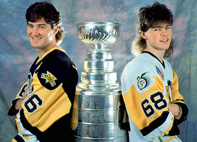 Yes, there was a time in the late '80s and early '90s when even superstars wouldn't dream of being seen without the Barry Melrose/Billy Ray Cyrus look ....