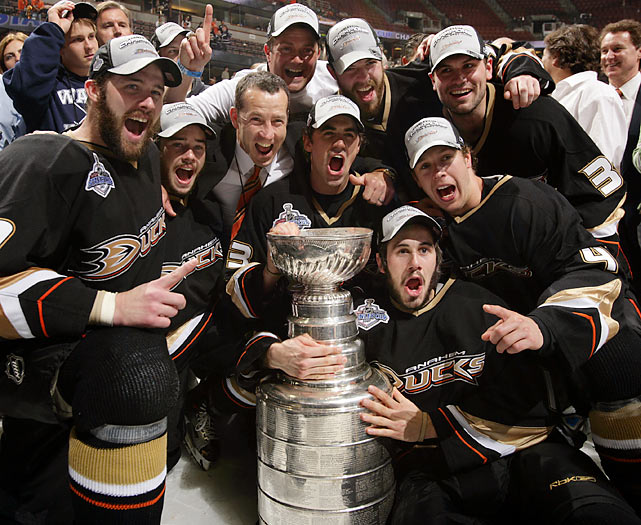 Captain Scott Niedermayer, the Conn Smythe-winner, led the Ducks as they downed the Ottawa Senators in five games to become the first California-based team to win the Cup.