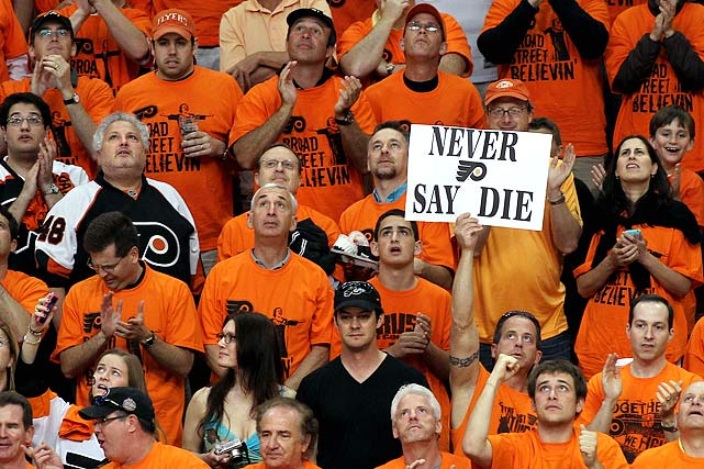 Flyers fans have been celebrating a team that has become the vampire of the 2010 playoffs by repeatedly rising from the dead, especially during the second round against Boston in which it became only the third NHL team to ever overcome a three-games-to-none deficit.